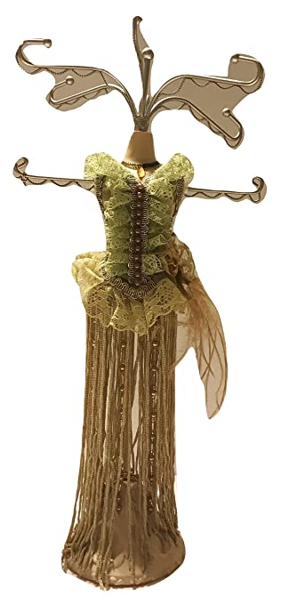 Amazoncom Victorian Lime Green Dress with Frills Mannequin Jewelry