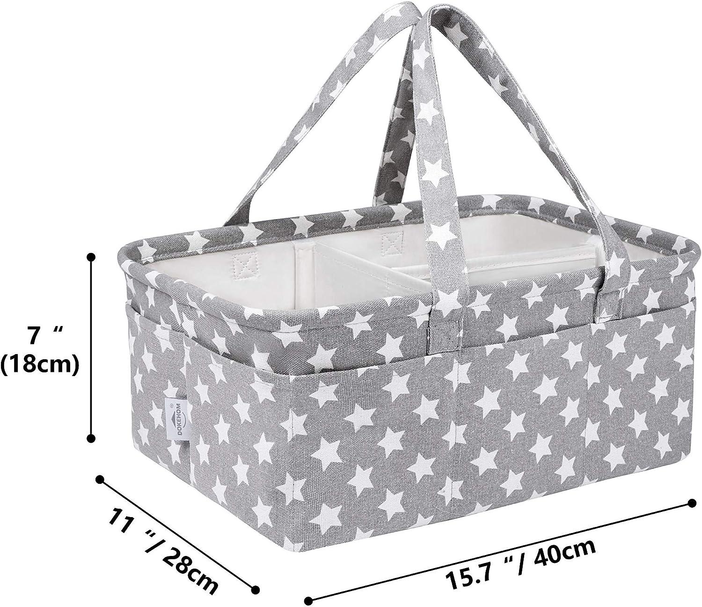 DOKEHOM Gro/ße Baby-Windelablage Organizer Multifunktionale Windelaufbewahrung Kinderzimmer M/üllkorb mit herausnehmbaren F/ächern Gris Star, L