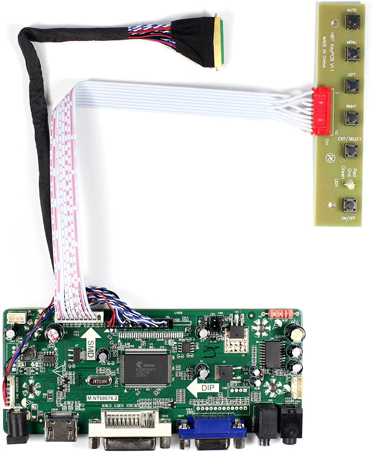 VSDISPLAY HD-MI VGA DVI Audio LCD Driver Board for 15.6'' 17.3