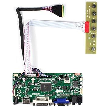 HDMI + VGA + DVI + Tarjeta de control de entrada de audio LCD para HSD173UHW1 B156HW01 15.6