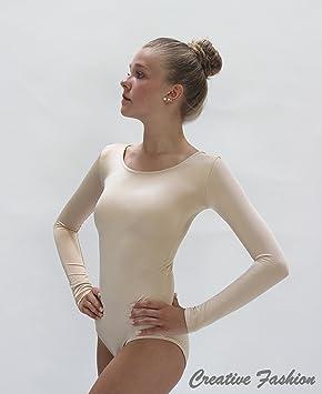 Kostov Sportswear Body à manches longues 320 en couleur de peau pour femme    Enfant 13 b094d59d3cd
