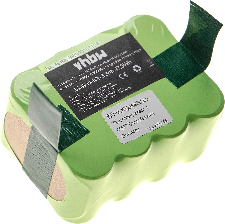 vhbw Batería NiMH 3300mAh (14.4V) para robot aspirador Home Cleaner Hoover RBC003, RBC003 011 como YX-Ni-MH-022144, NS3000D03X3.: Amazon.es: Hogar