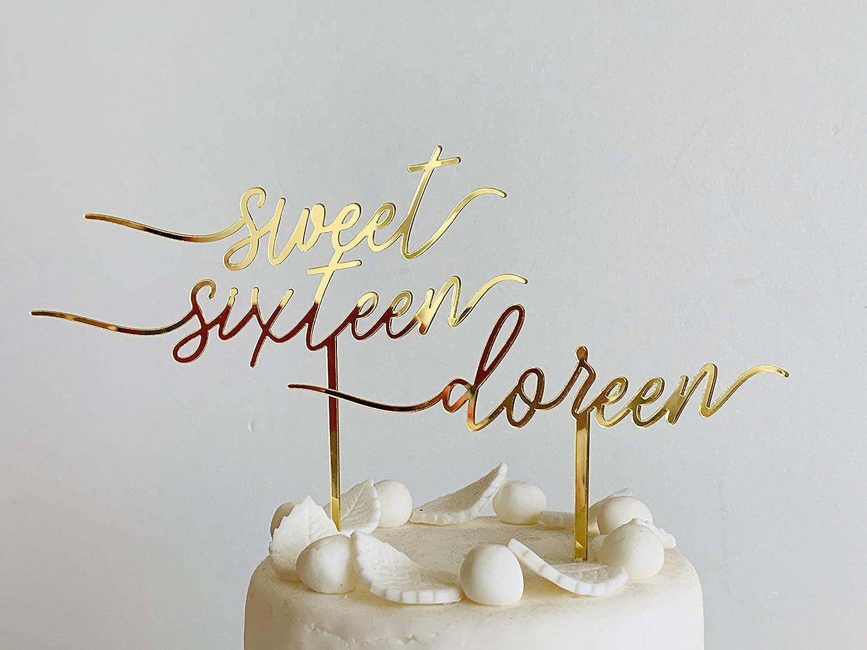 Birthday Cake Topper Sweet 16 Cake Topper