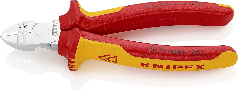 クニペックス KNIPEX 1426-160 穴付絶縁ニッパー 1000V