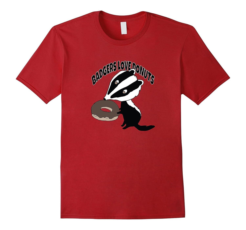 a168a724 Badgers Love Donut Funny T-shirt-Vaci – Vaciuk