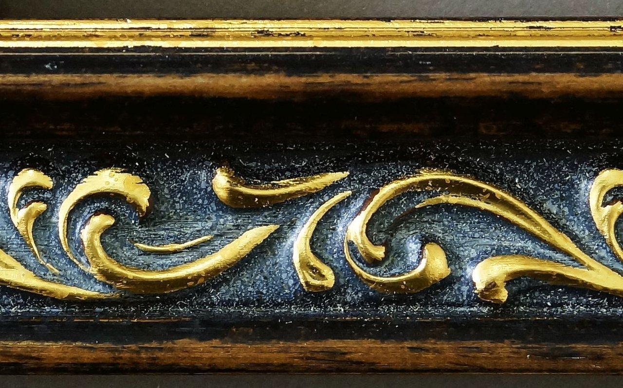 Bilderrahmen Verona Braun Gold Gold Gold 4,4 - WRF - 50 x 70 cm - 500 Varianten - Alle Größen - Handgefertigt - Galerie-Qualität Antik, Barock, Modern, Shabby, Landhaus - Fotorahmen Urkundenrahmen Posterrahmen 58ec71