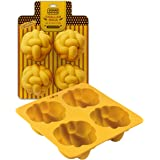 The Kosher Cook Silicone Braided Challah Mold - 4 Small Challettes - Braided Oval Challah Pan - Challah Bread Baking Mold - N