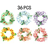 36PCS Luau Hawaiian Headband Party Supplies Decorations - Floral lei Headpieces Tiki Tropical Favors