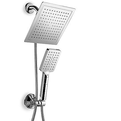 Dreamspa Ultra Luxury 9 Rainfall Shower Head Handheld Combo