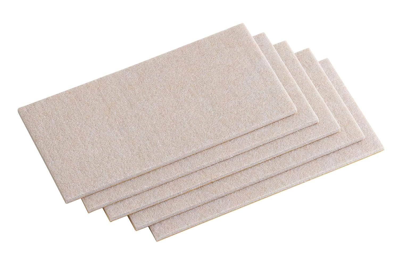 100 x 100 mm Meister 645336 Patine para desplazar muebles marr/ón Set de 5 Piezas