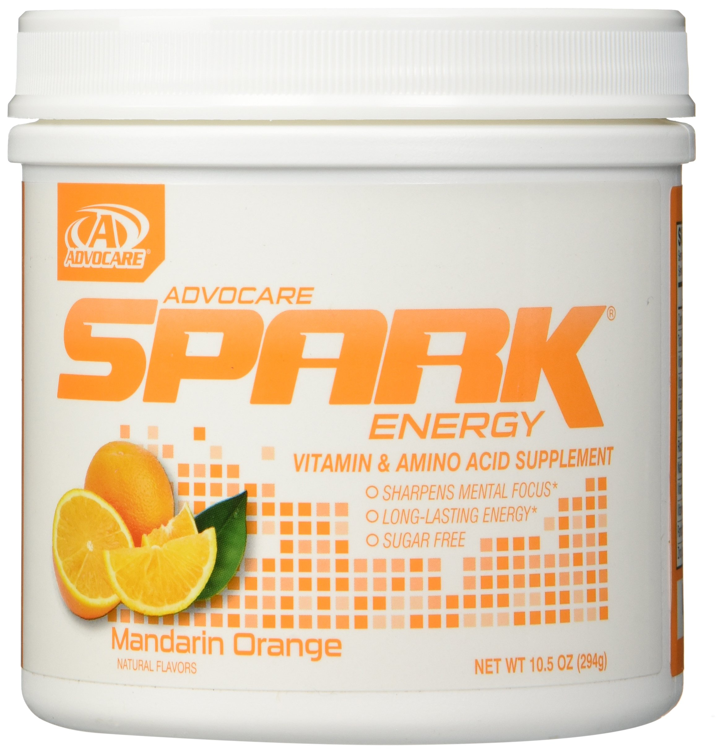 AdvoCare Mandarin Orange Spark Canister 10.5 Ounce - New