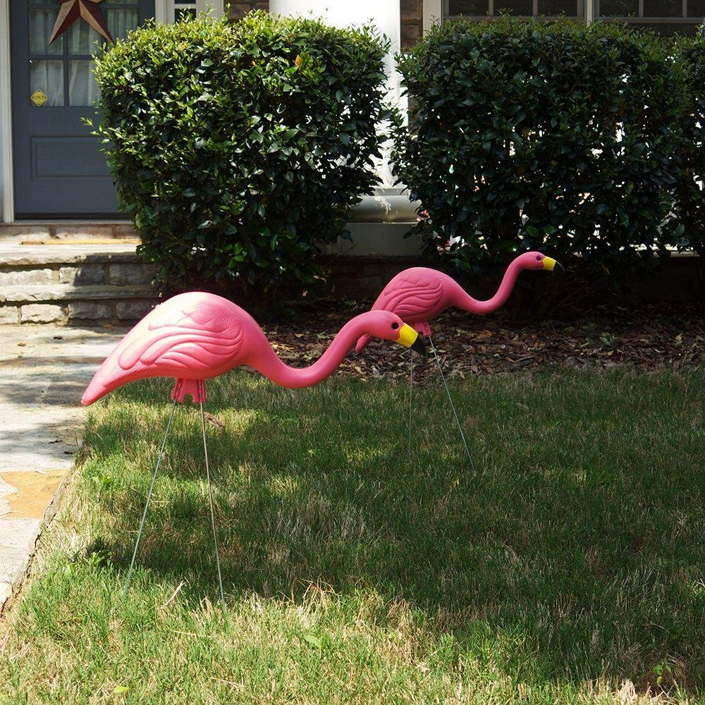 26'' Pink Flamingo Resin Garden Statues Lawn Ornament Retro Decor (24-Pack) by Southern Patio (Image #3)