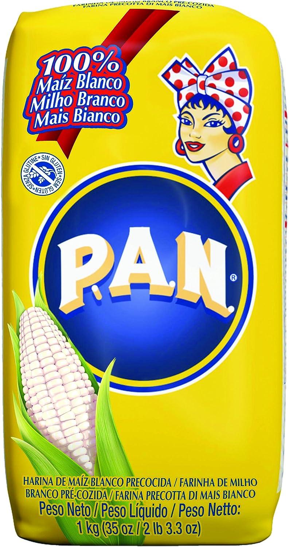 Harina precocida de maíz blanco PAN (10 paquetes de 1 kg)