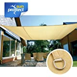 sunprotect 83230 Professional Toldo / Vela de Sombra, 6 x 4 m, rectangular, beige