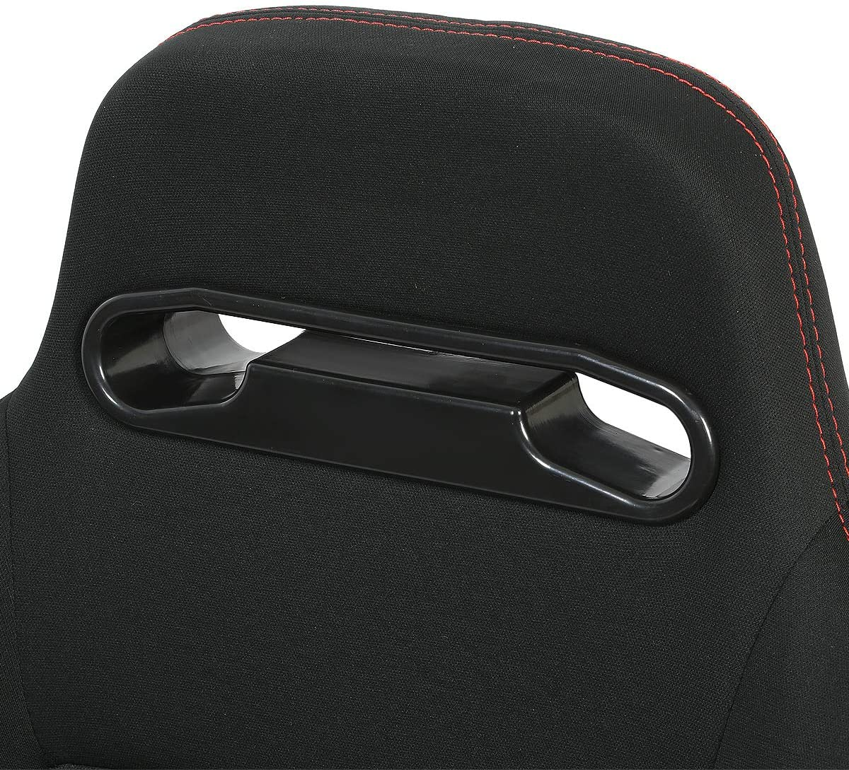 Left//Driver Side Only DNA RS-TR-BK-L-NEW Type-R Black Cloth with Red Stitch Racing Seat