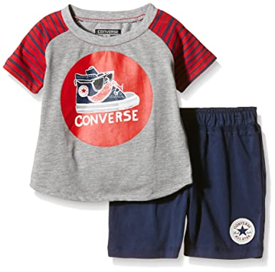 6b714b979 Converse Baby Constachio T-Shirt and Shorts Set - 3-4 Years / 104-110 cm:  Amazon.co.uk: Clothing