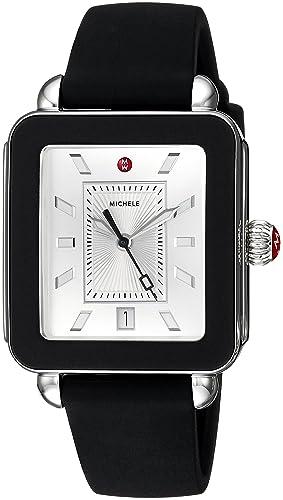 Michele - Reloj Deportivo de Silicona para Mujer, Color Negro
