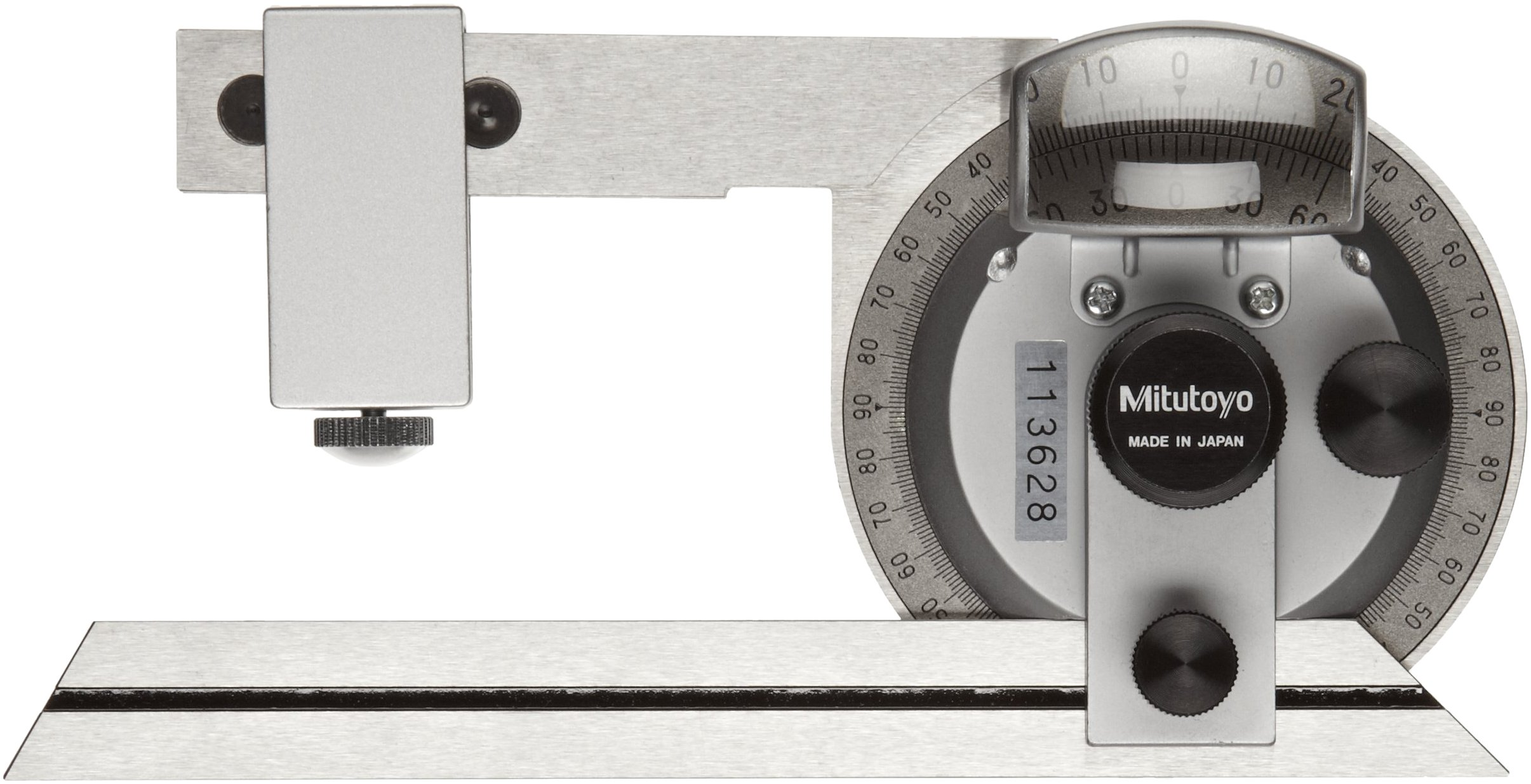 Mitutoyo 187-904, Universal Bevel Protractor, 6'' Blade, 5 minute Vernier Resolution by Mitutoyo