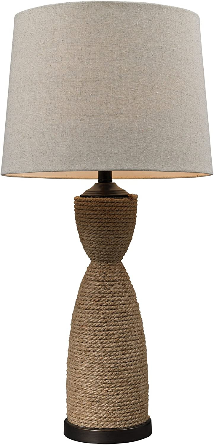 Dimond 32 Wrapped Rope Table Lamp In Dark Brown D129