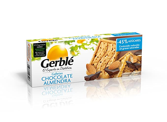 Galletas chocolate almendra gerblé 200 g - [Pack de 3]