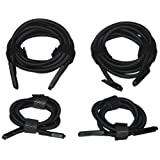 Lafuma LFM2322 Elastic Laces Ideal for RSX and RSXA - Black (Set of 4)