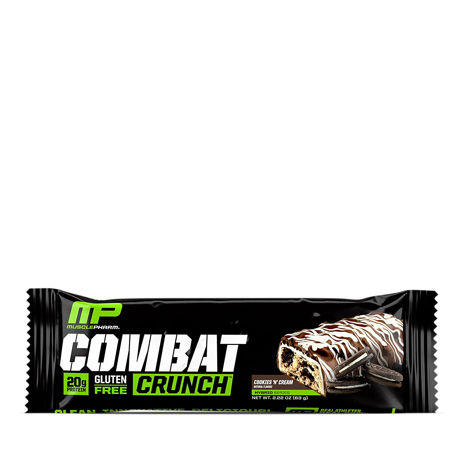 Musclepharm Combat Crunch Bars Cookies `n Cream - 12 Barras: Amazon.es: Salud y cuidado personal