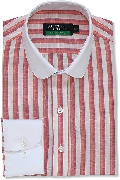 Camisa para hombre, diseño de banqueros de rayas blancas, 100 ...