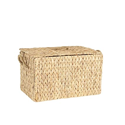 Household Essentials ML  6610 Large Wicker Storage Box With Lid    12.2u0026quot; H X