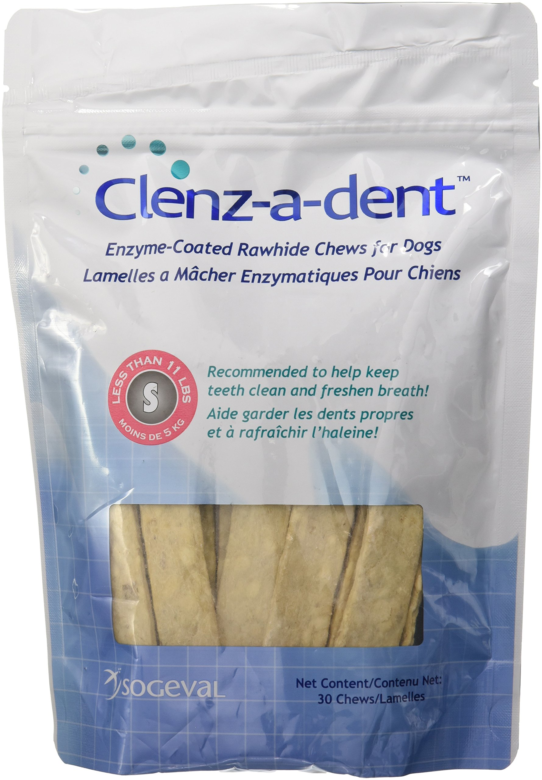 CEVA Animal Health CLE06130 Clenz-A-Dent 30 Count Rawhide Chews for Small Dogs by CEVA Animal Health (Image #1)