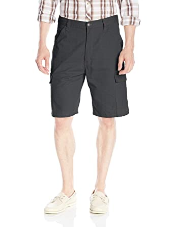 10c47eda22 Wrangler Authentics Men's Classic Relaxed Fit Cargo Short, Anthracite  Ripstop, ...