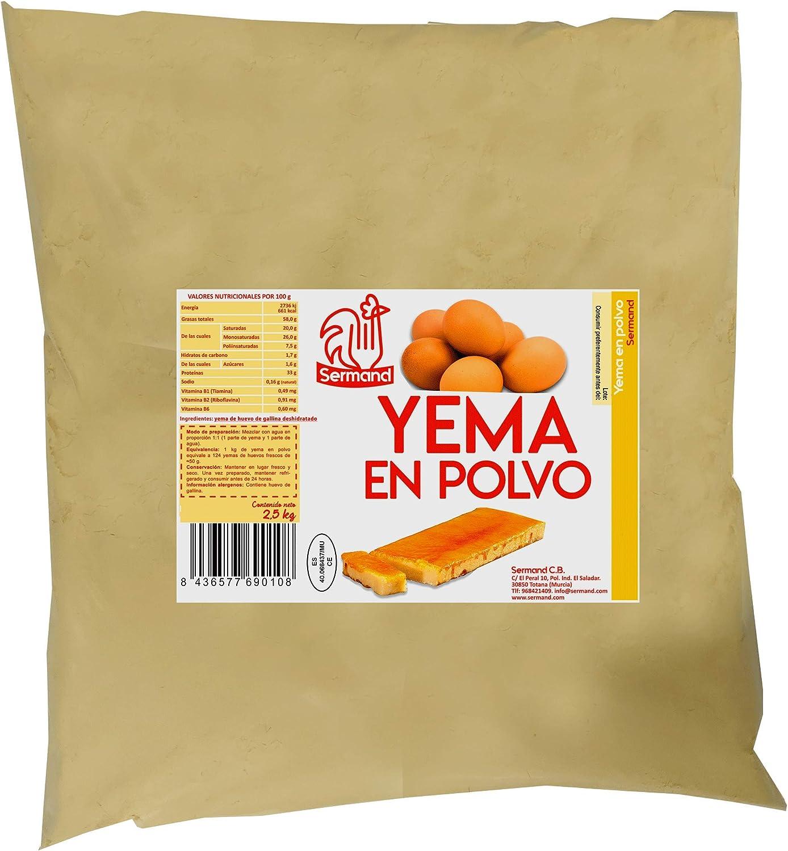 Yema de huevo en polvo. Bolsa de vacío de 2,5 Kg.: Amazon.es ...