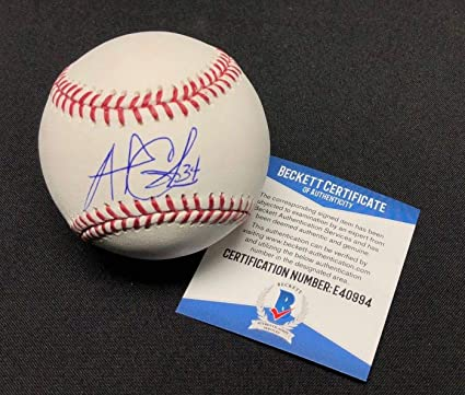 55e5d42d7d6 Image Unavailable. Image not available for. Color  Andrew Cashner Signed  Baseball - Major League ...