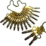 Jewellers Tools Set Of 14 Pocket Watch Keys Size 00-12 Tools Winder Vintage Winder Key