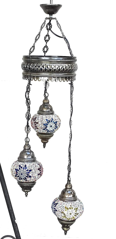 Lámpara Turca iluminación 3 globos- para techo original ...