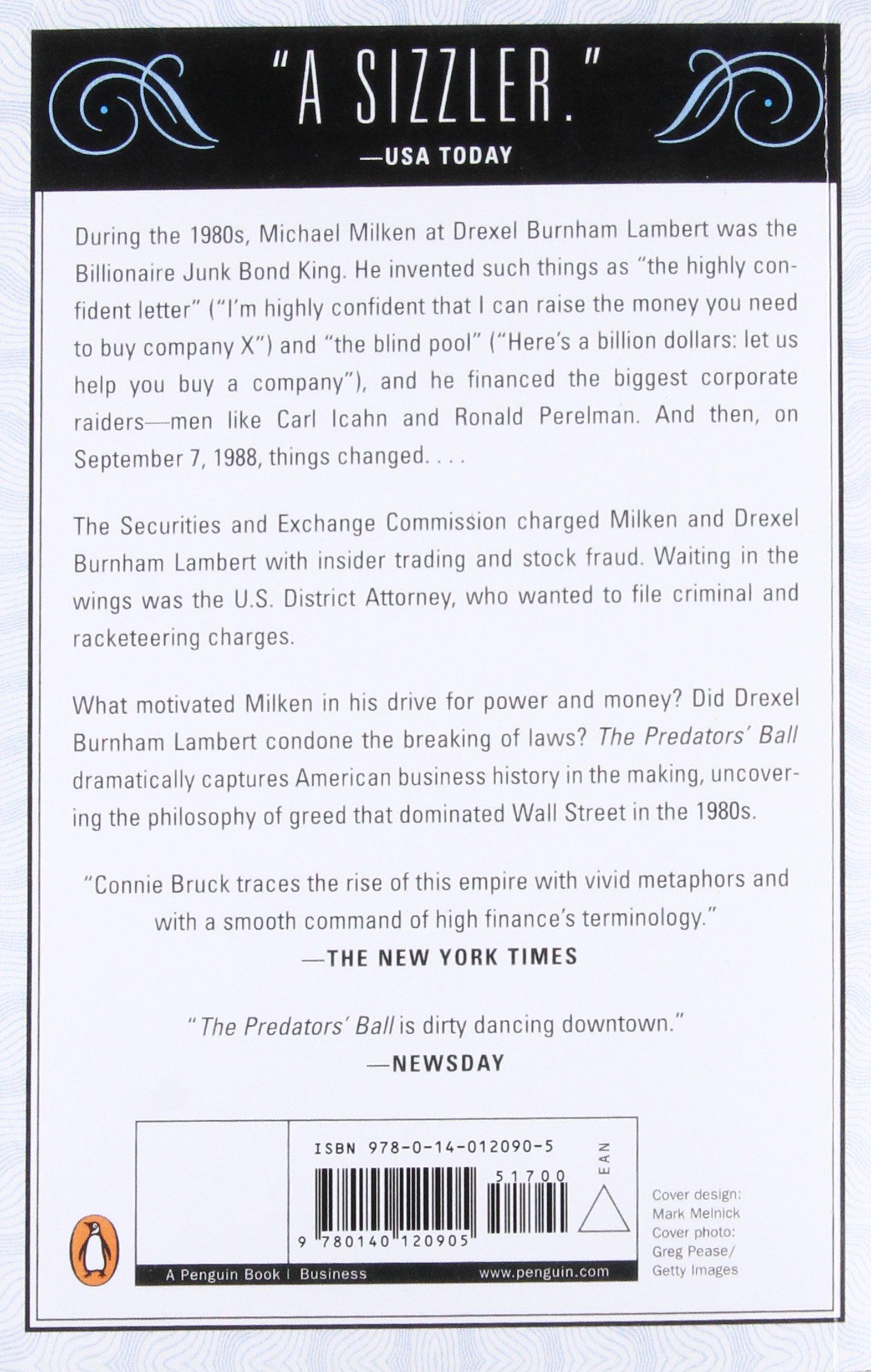 Designer deals club for hancock - The Predators Ball The Inside Story Of Drexel Burnham And The Rise Of The Junkbond Raiders Connie Bruck 8601420200944 Amazon Com Books