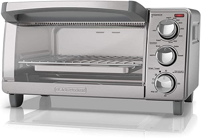Amazon.com: Black + Decker 4-Slice tostador horno con ...