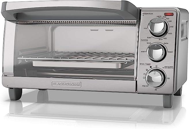 Amazon.com: Black + Decker 4-Slice tostador horno con ...