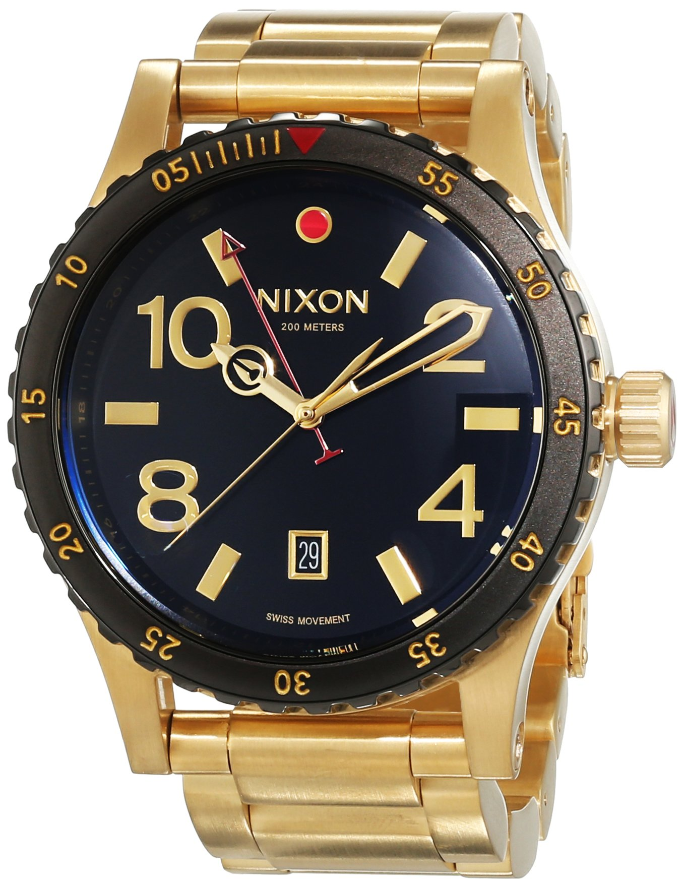 Nixon A277-513 Mens Diplomat SS Gold Black Watch by NIXON