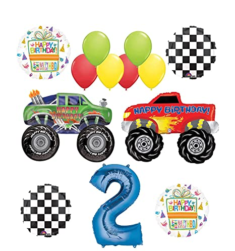 Amazon Com Mayflower Products Monster Truck Party Supplies 2nd