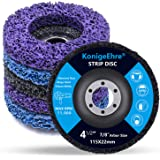 """KONIGEEHRE 6 Pack 4-1/2"""" x 7/8"""" Strip Discs Stripping Wheel Fit Angle Grinder Clean and Remove Paint Coating Rust Welds Oxida"""