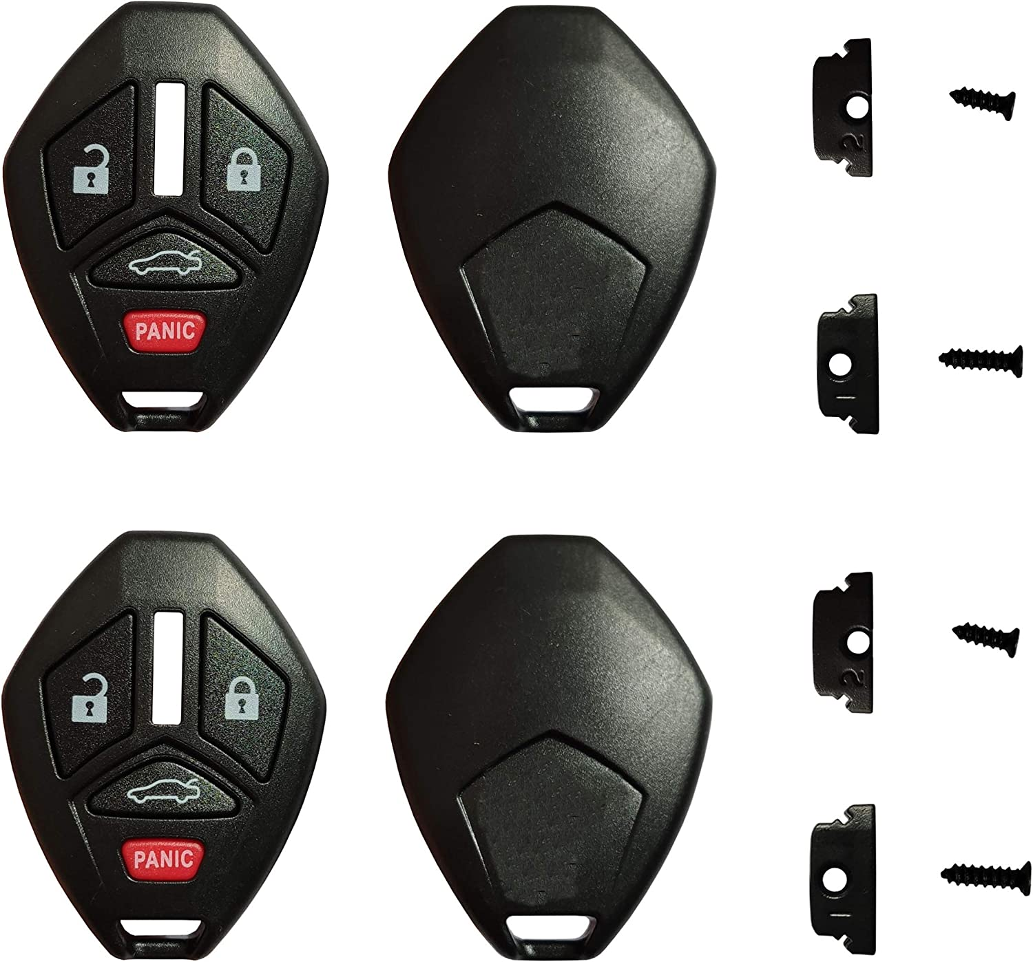 2 Replacement for 06-08 Mitsubishi Endeavor Remote Key Fob Shell Case 3b Thin