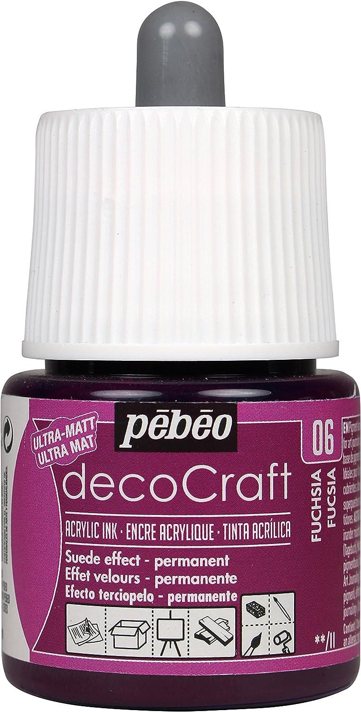 Pébéo Decocraft - Pintura 45 ml, Color Fucsia: Amazon.es: Hogar