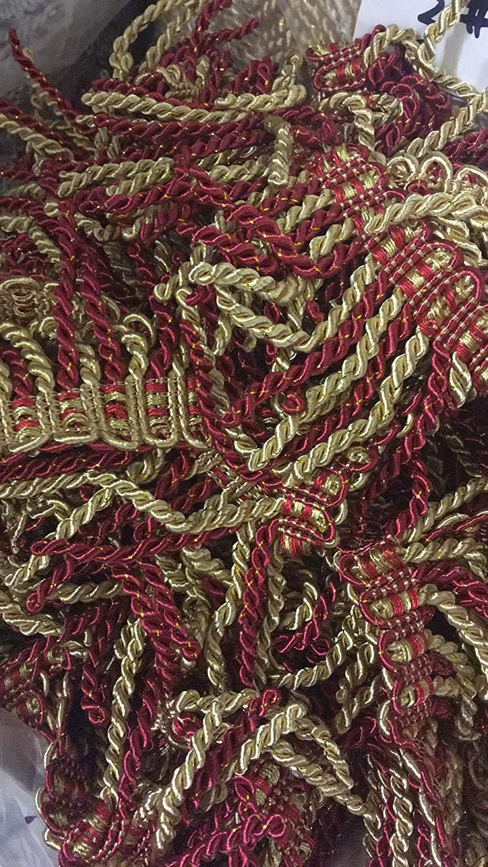 Cream 2ms of deep Pink Big 8cm Fringe Tassel Trim Upholstery Curtain lamp Trimmings Bag Costum Trims