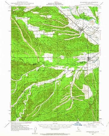 Amazon Com Yellowmaps Anderson Ca Topo Map 1 62500 Scale 15 X 15
