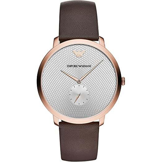 3b5bea1f Emporio Armani Mens Slim Rose Gold Plated Strap Watch AR11163 ...