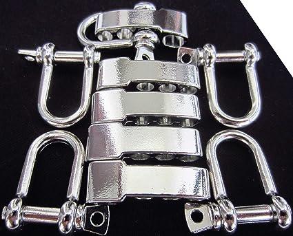 10X Adjustable Stainless Steel U Shaped Shackle Buckle For Paracord Bracelet/_Qo