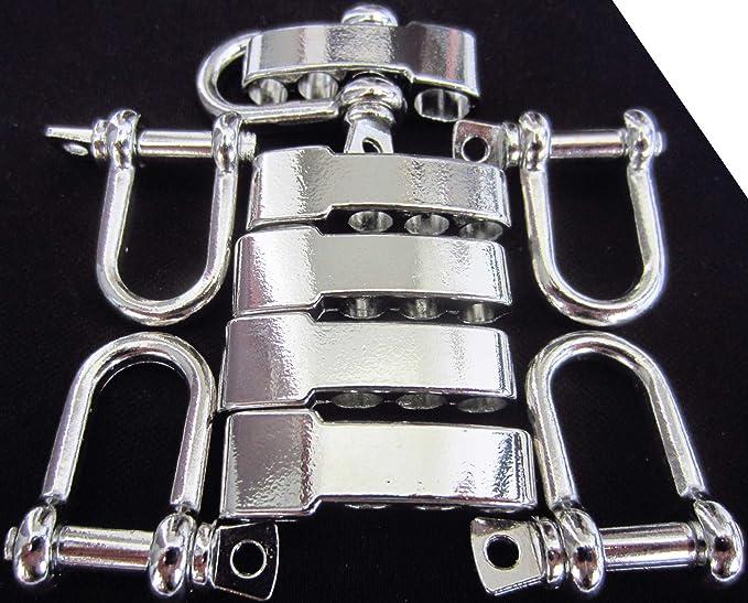 Alloy Adjustable D Type Shackle Buckle For Survival Paracord Bracelet