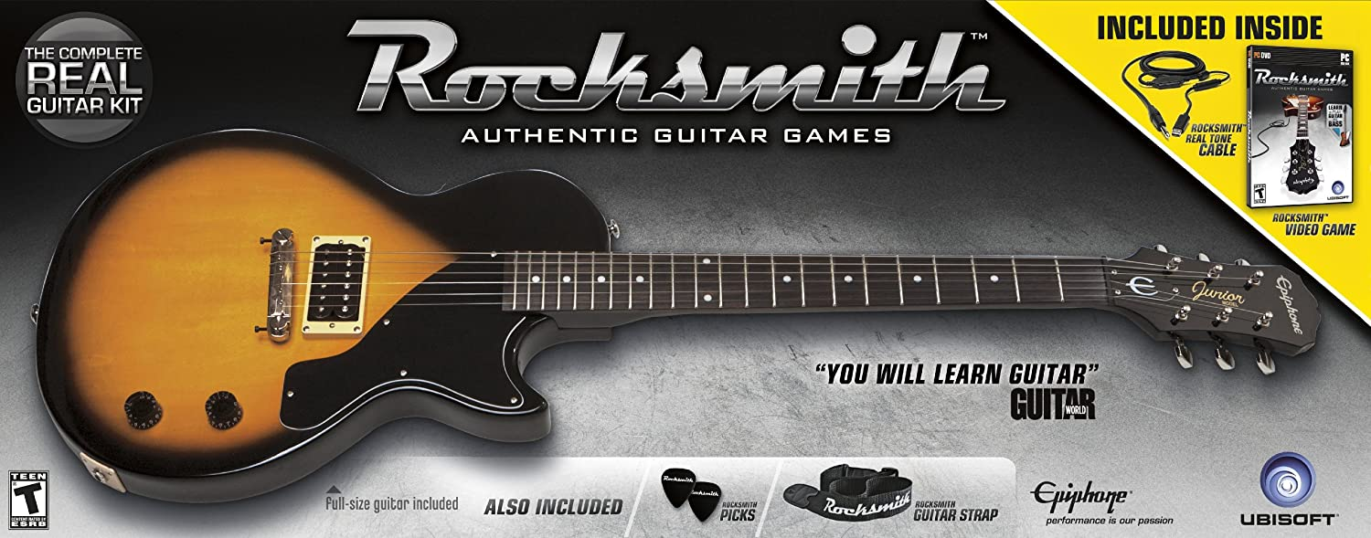 Amazon Rocksmith Guitar Bundle For Guitar And Bass Xbox 360