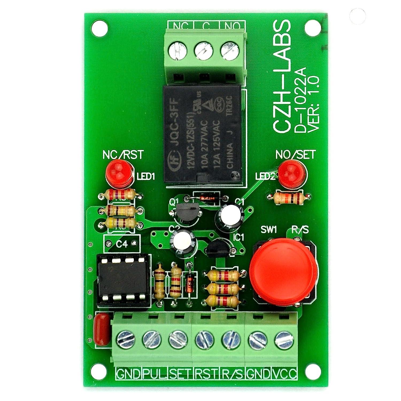 Electronics-Salon Module de relais SPDT à verrouillage de commande à impulsions et à impulsions, monté sur panneau, 12V