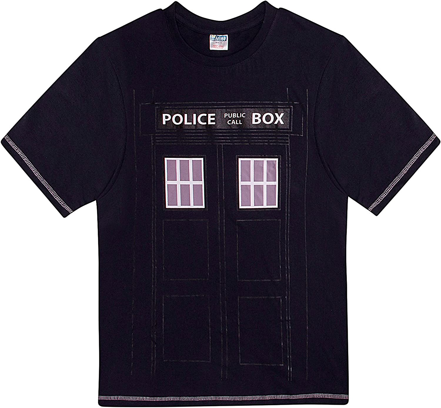 Mens Police Box Navy Blue Long Pyjamas Great for Fans of Doctor Who M L XL